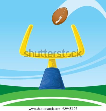 Football field goal - stock vector