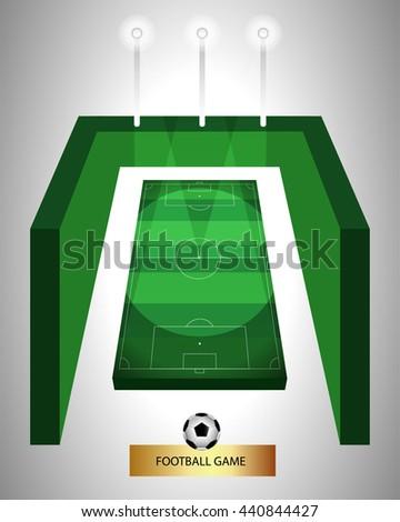football game - stock vector