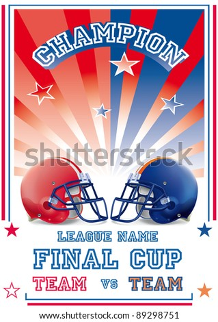 football game poster team vs team - stock vector