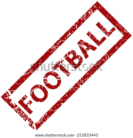 Football grunge rubber stamp on a white background. Vector illustration - stock vector