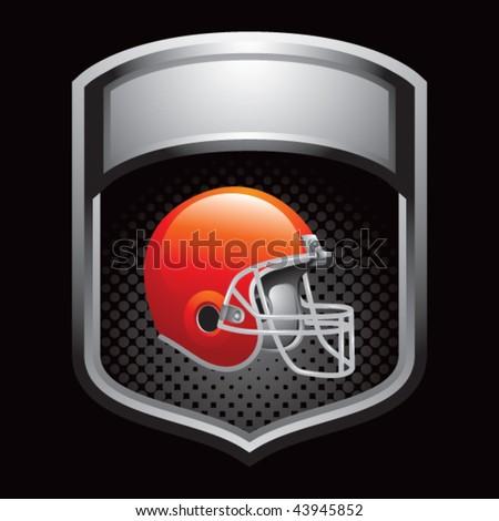 football helmet silver shiny helmet - stock vector