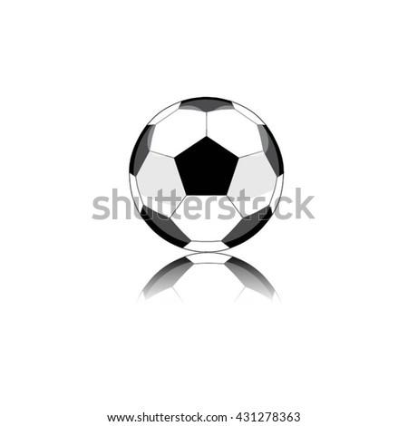 football icon vector. - stock vector