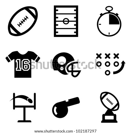 Football Icons - stock vector