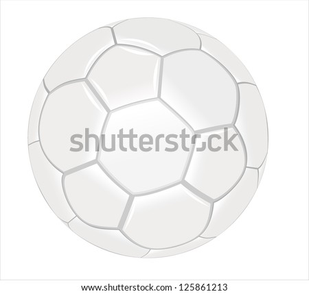 Football isolated on a white - stock vector