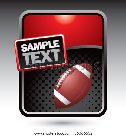 football on clean halftone template - stock vector