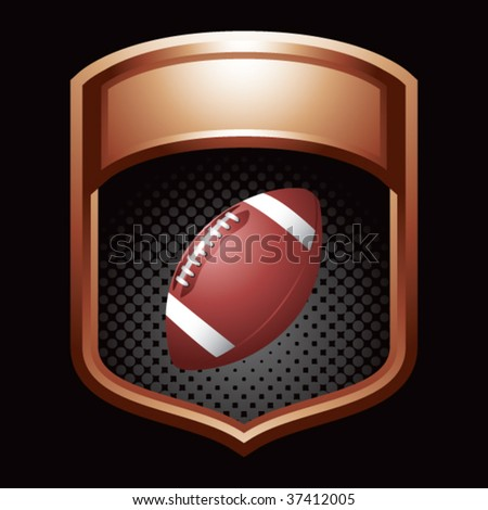 football on glossy display crest - stock vector