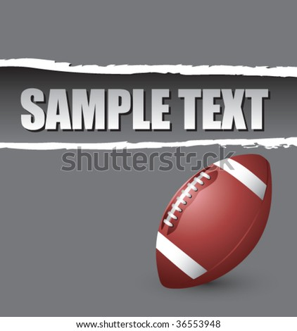 football on ripped colored paper - stock vector