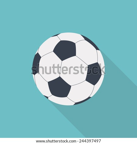 football or soccer ball flat icon vector - stock vector
