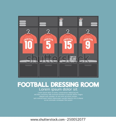 Football Or Soccer Dressing Room Vector Illustration - stock vector