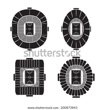 Football or soccer stadiums  - stock vector