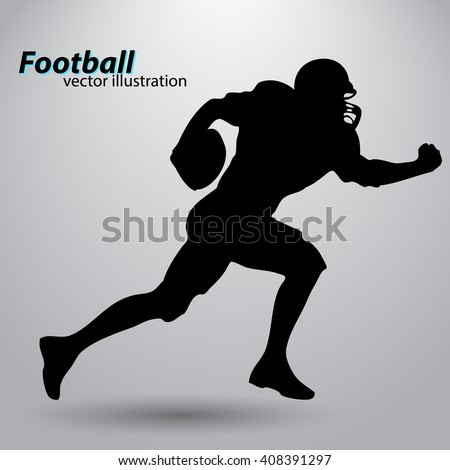football player silhouette - stock vector