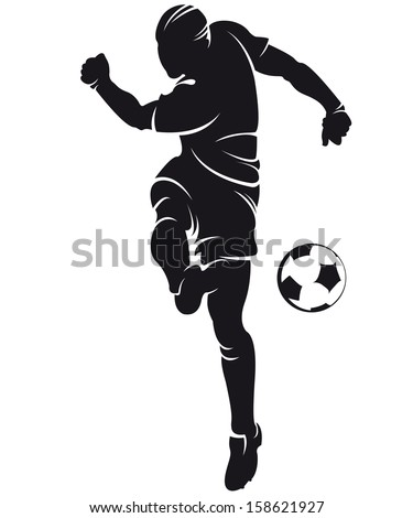 Football player silhouette with