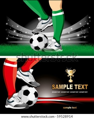 Football poster with soccer ball and  place for your text - stock vector