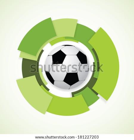 Football Sign. Soccer Ball. Vector Illustration - stock vector