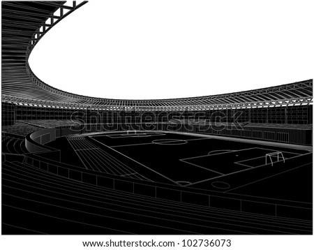 Football Soccer Stadium Vector 06 - stock vector