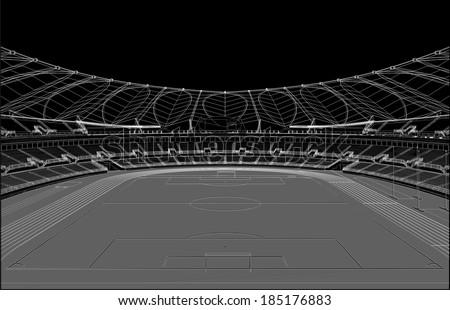 Football Soccer Stadium Vector 21 - stock vector