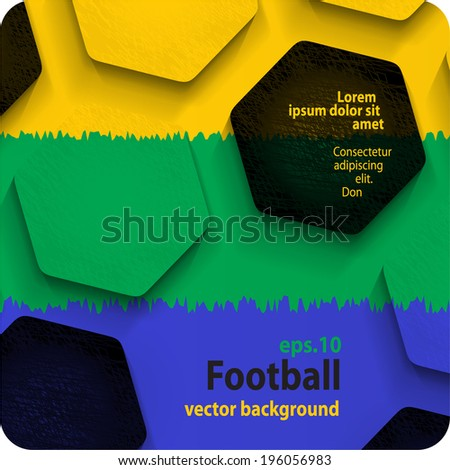 football (soccer) vector background, in the colors of the national flag of Brazil. eps10 - stock vector