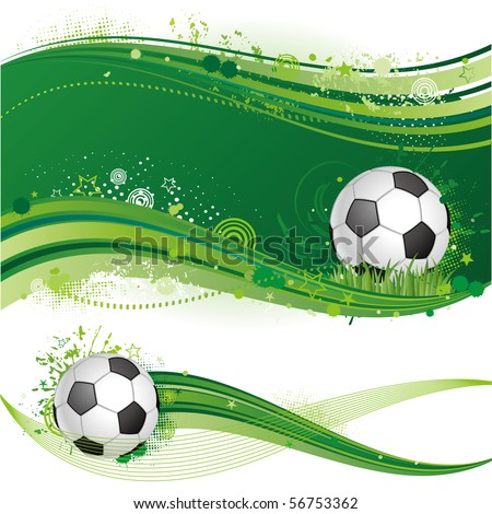 football sport design element - stock vector