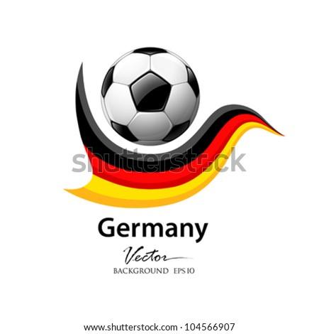 Football team germany, vector illustration - stock vector