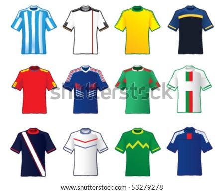Football teams shirt - stock vector