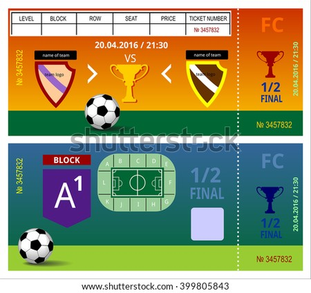football tickets sport game event card play coupon admission sports price - stock vector