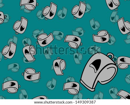 football whistle - stock vector