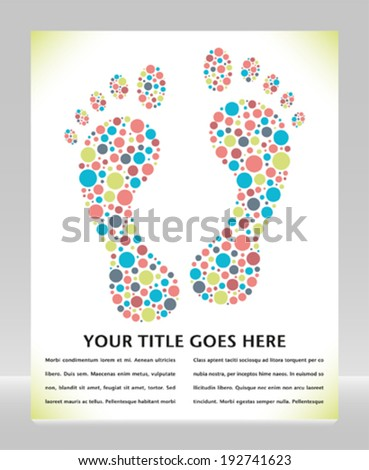 Footprint design with copy space.  - stock vector