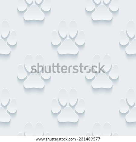 Footprint wallpaper. 3d seamless background. See others in a Perforated Paper Set. Vector EPS10. - stock vector