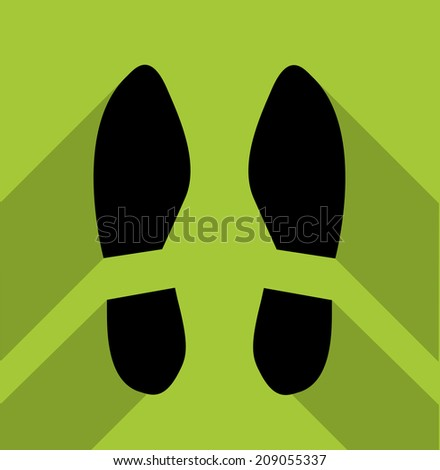 Footsteps silhouette - stock vector