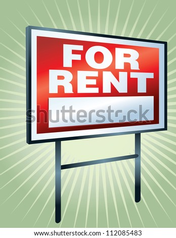 For Rent - stock vector