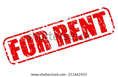 For rent red stamp text on white - stock vector