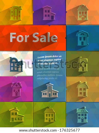 For sale. Vector format - stock vector