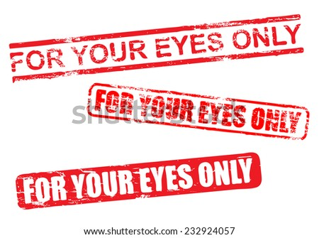 For your eyes only vector rubber stamp illustrations  - stock vector