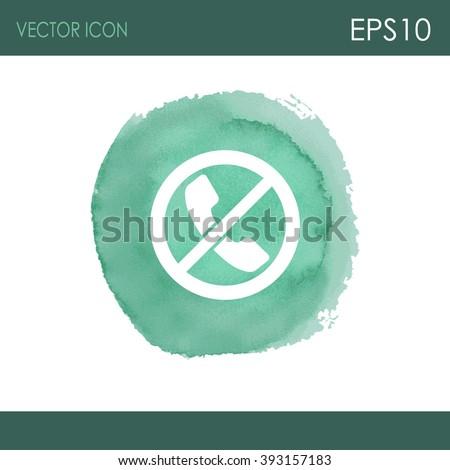 Forbidden call vector icon. Telephone not allow sign. No phone icon. - stock vector