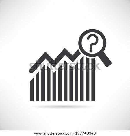 forecasting data, data analysis - stock vector