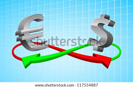 foreign exchange concept in currency sign - stock vector