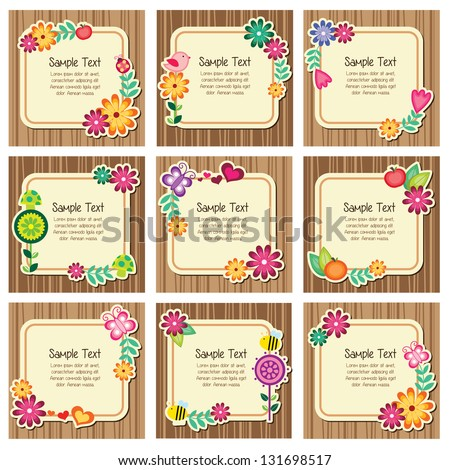 Forest nature invitation cards - stock vector