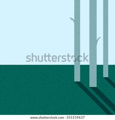 Forest. Vector illustration - stock vector