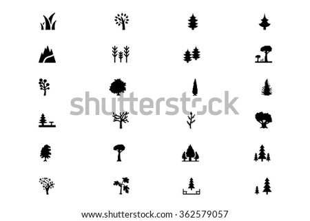 Forest Vector Solid Icons 1 - stock vector