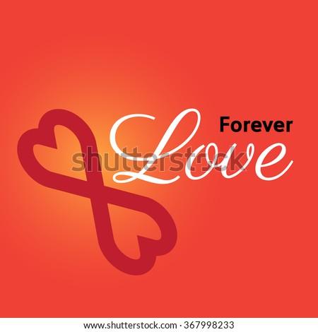 forever love - stock vector