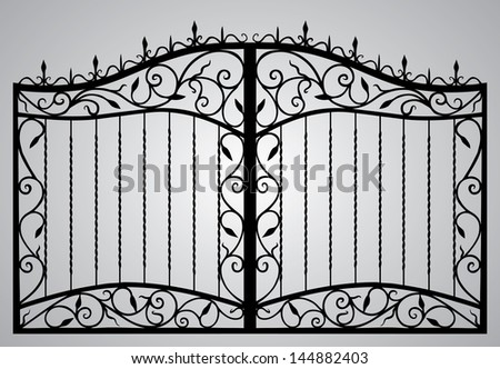 Forged gate - stock vector