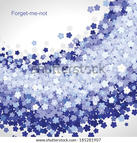 Forget-me-not flower blue background - stock vector