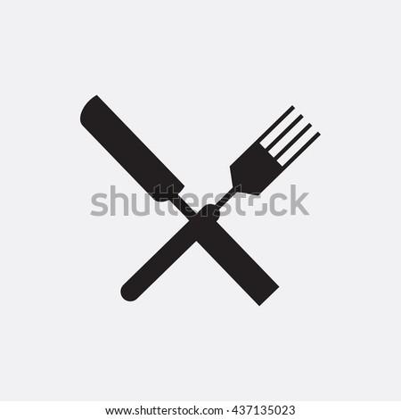 Fork and knife Icon, Fork and knife Icon Eps10, Fork and knife Icon Vector, Fork and knife Icon Eps, Fork and knife Icon Jpg, Fork and knife Icon, Fork and knife Icon Flat, Fork and knife Icon App - stock vector
