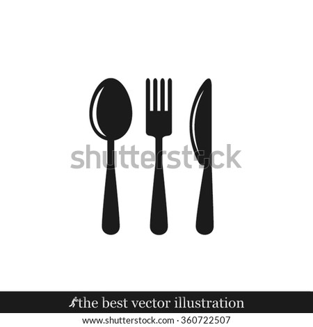 Fork Spoon Knife Icon Vector. Fork Spoon Knife Icon JPEG. Fork Spoon Knife Icon Picture. Fork Spoon Knife Icon JPG. Fork Spoon Knife Icon EPS. Fork Spoon Knife Icon Drawing - stock vector - stock vector