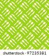 Fork spoon knife pattern. Green - stock vector