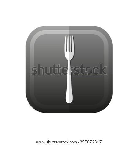 fork - vector icon, flat design - stock vector