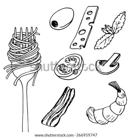 spaghetti stock vectors amp vector clip art shutterstock