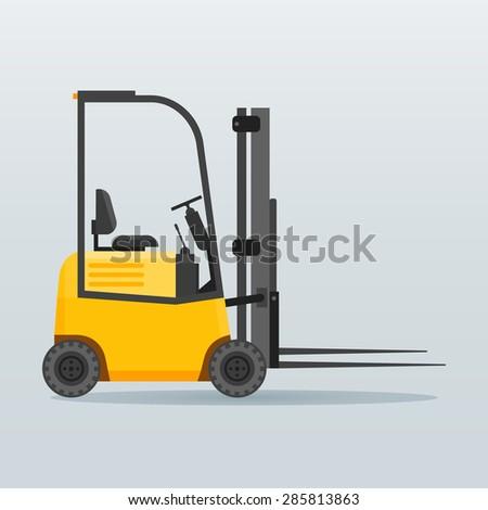 Forklift truck vector illustration - stock vector