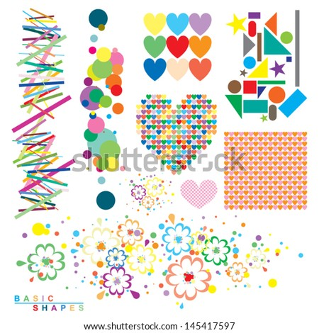 Forms and Colors - stock vector