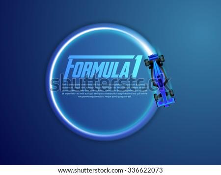 formula 1 - stock vector